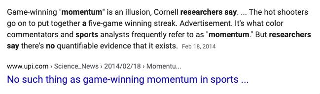 momentum in sports
