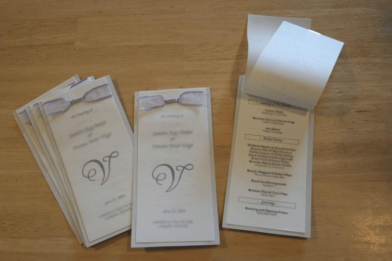 Free DIY Wedding Programs and Menus  Across the Pond and