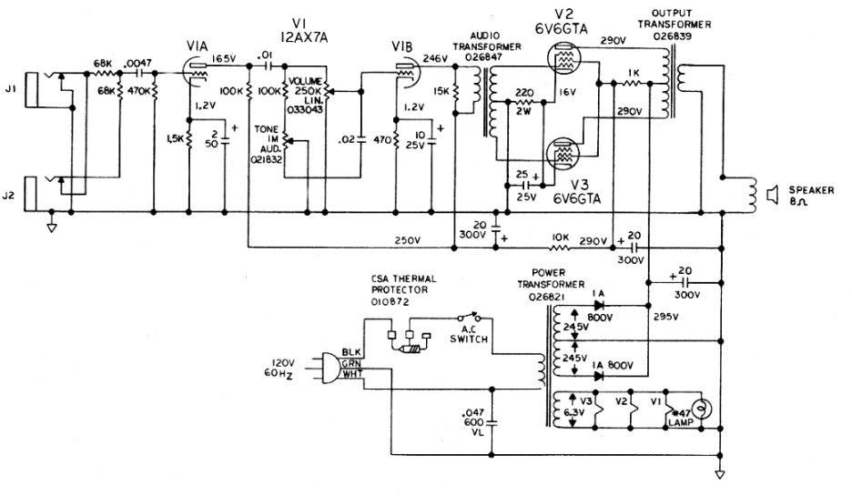 fender bandmaster wiring diagram
