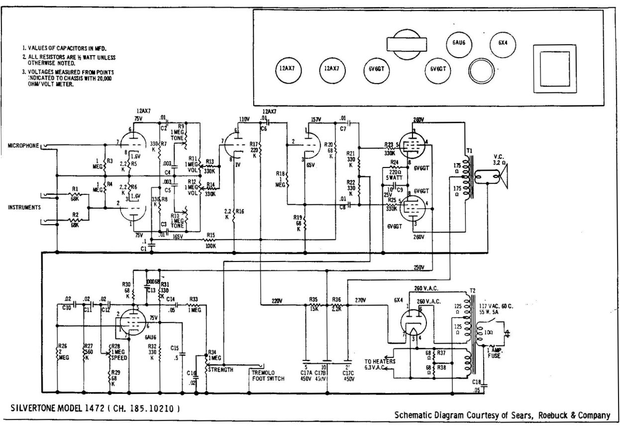 hight resolution of silvertone amp schematic wiring diagram for you hiwatt amp schematics schematics swr amp schematics silvertone amp