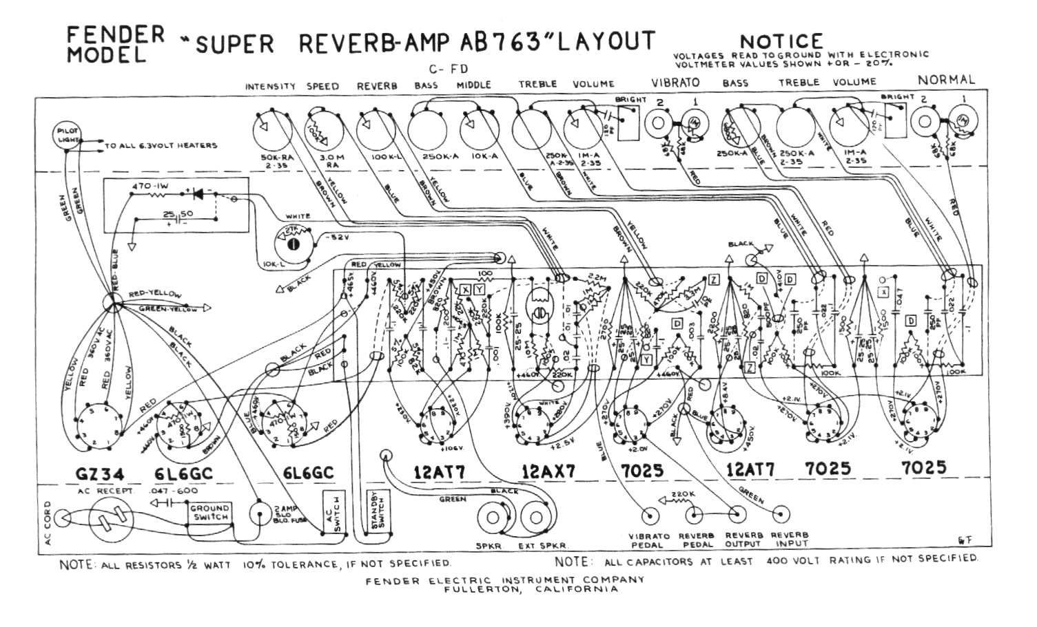 Fender Super Reverb Speaker Wiring Diagram