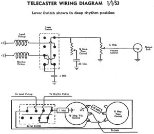 Who can draw me a Tele Schematic (not wiring diagram