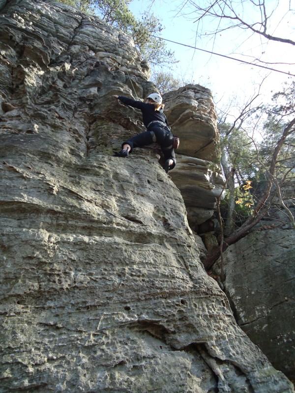 Rock Climbing Pilot Mountain - Cruising Couple