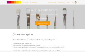 how to paint with acrylics learn online painting course