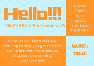 how to paint with acrylics new artists learn to paint online course acrylicmuse