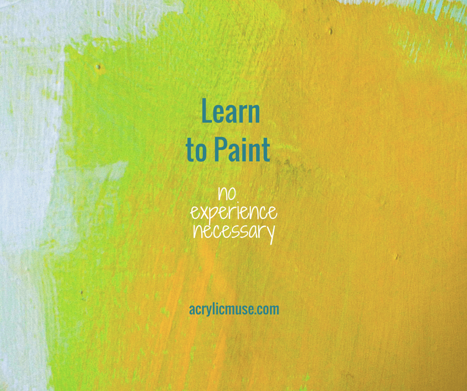 Recipe to paint the acrylic muse for Learn to paint with acrylics