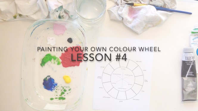 Painting a Colour Wheel Video Lesson
