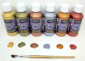 Sargent Art Metallic Acrylic Paint Set, 6-Pack