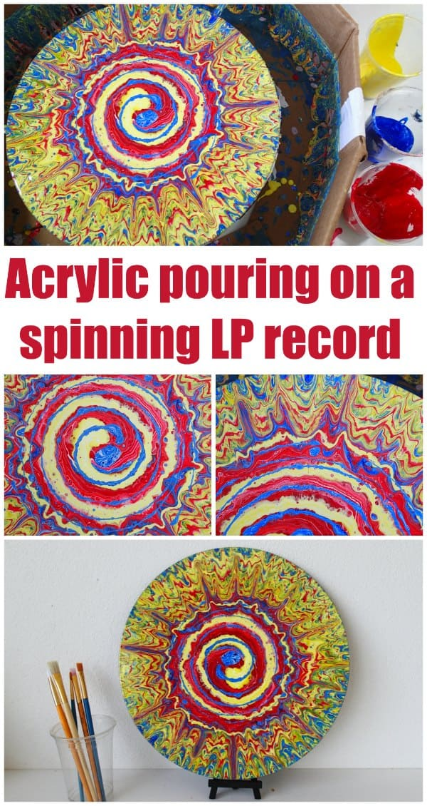 Primary Color Spinning Record Pour Again