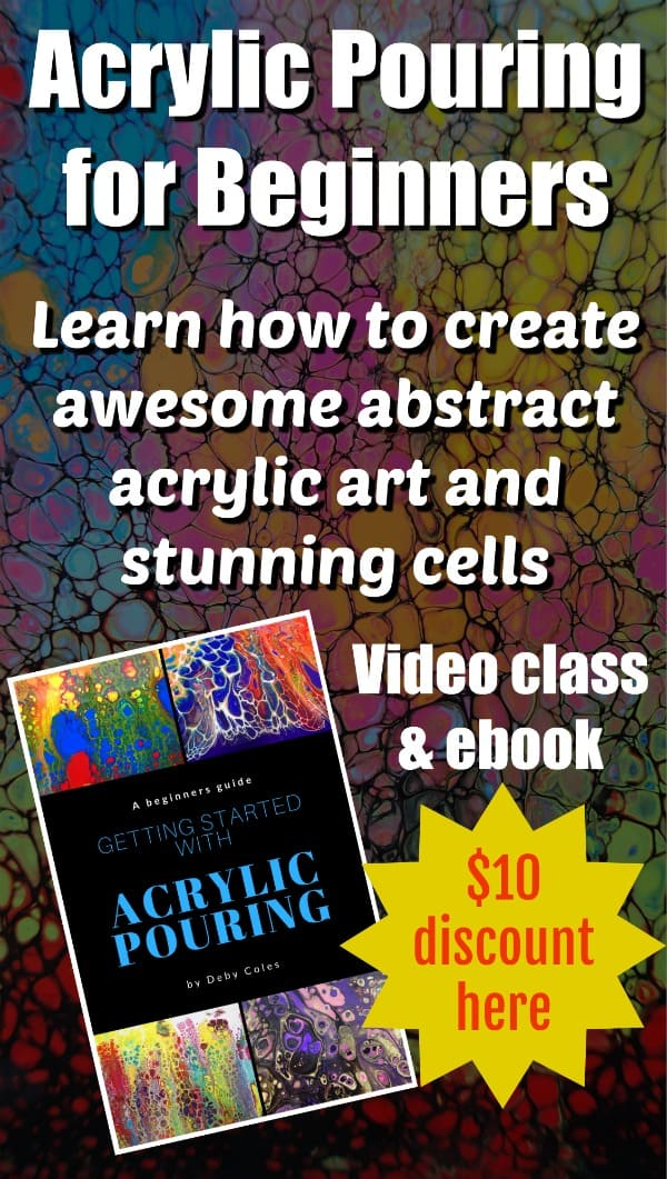 Acrylic pouring for beginners - full video class and ebook for everything you need to know to get started with fluid acrylics