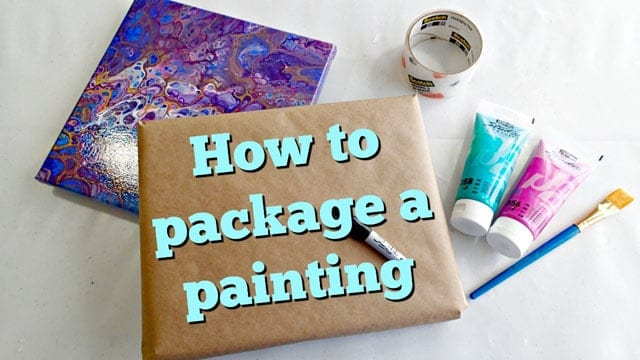 Need to mail a painting This video shows you how to safely package and protect your painting or canvas to send it through the mail.