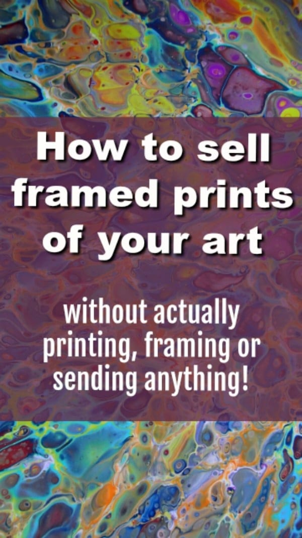 How to sell framed prints of your art in your Etsy store without actually printing, framing or sending anything. A video tutorial on how to use Printful to print, frame and fulfil your orders