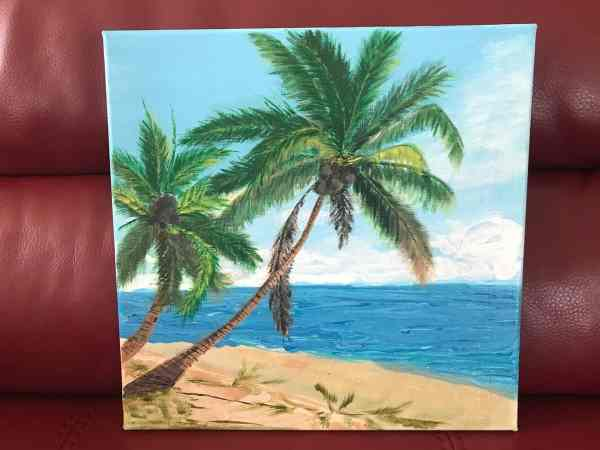 palm trees paint
