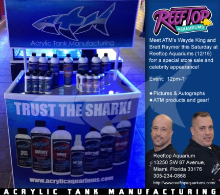 ATM EVENT Reeftop Aquariums Miami, FL