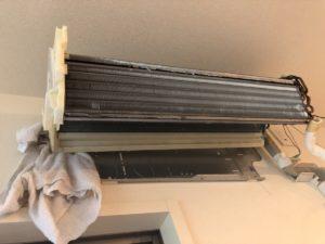 エアコンクリーニング 熱交換器