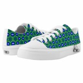 Peacock blue, green and white 9729 Sneakers