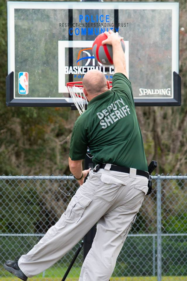 Deputy Drew Davis dunking - thanks to our friend Basketball Cop