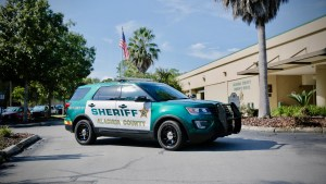 Sheriff's Office Explorer at the main administration building