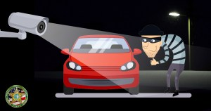 Car Burglary surveillance video graphic