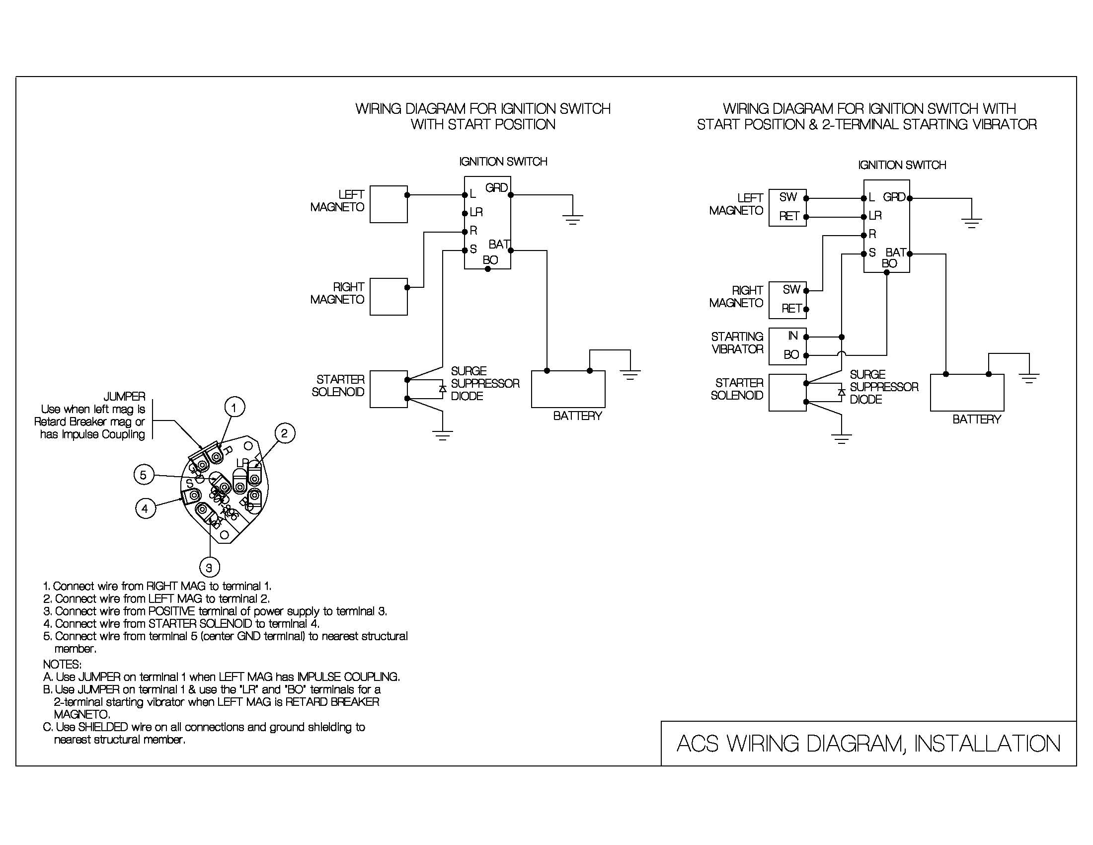 Cool Aircraft Magneto Switch Wiring Diagram Aircraft Magneto Timing Wiring Cloud Oideiuggs Outletorg