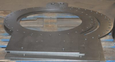"30"" x 52"" Hy-def plasma part with burned holes"