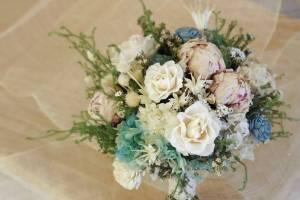 新娘捧花推薦『陽光灑落』手作質感捧花,進口不凋花,乾燥花束,台北捧花推薦,眾多新娘首選捧花
