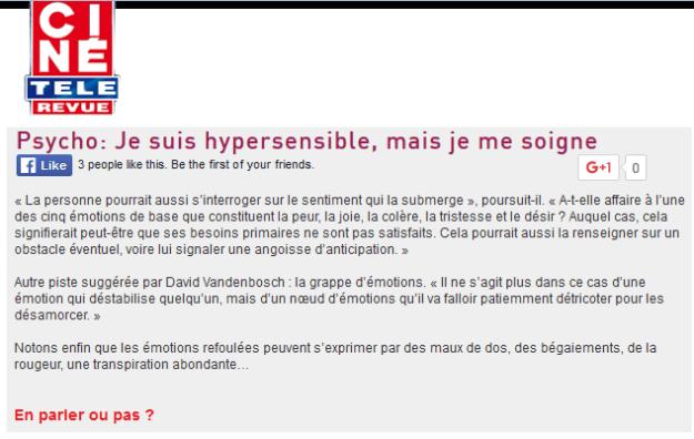 cine tele revue hypersensible 2