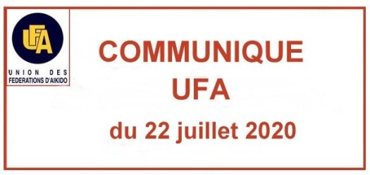 Communiqué UFA du 22 juillet 2020