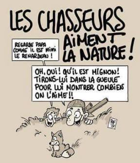 chasse humour