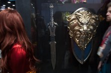 Legendary revealed props from the upcoming 'Warcraft' film, including an official 'Frostmourne' sword.