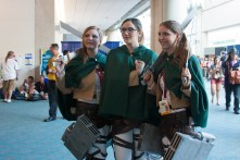 'Attack on Titan' made an impressive showing at this year's convention with several cosplayers.