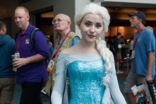 Disney's Elsa was arguably the most popular cosplay character at this year's convention.