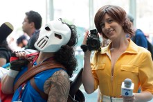 Casey Jones and April O'Neill hunt for an interview with the Ninja Turtles.