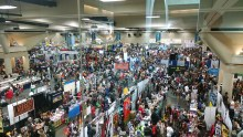 A portion of the exhibit hall floor during Saturday's Comic Con in San Diego.