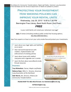 July Smoking Policy Workshop