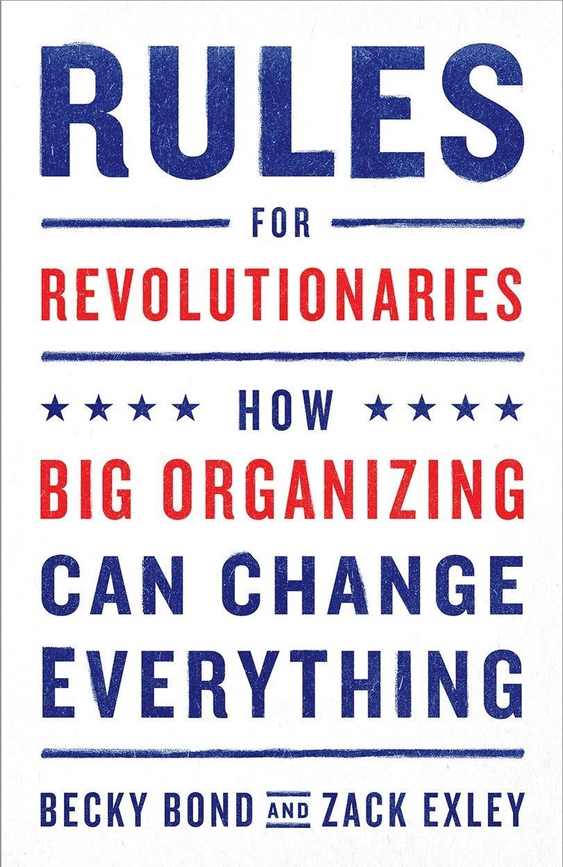Rules for Revolutionaries book cover. It is in all caps and has stars on it. Looks very USA.