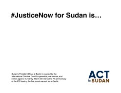 JusticeNow for Sudan