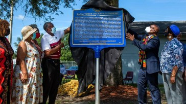 Community Members in Newberry, Florida, Unveil Historical Marker 9