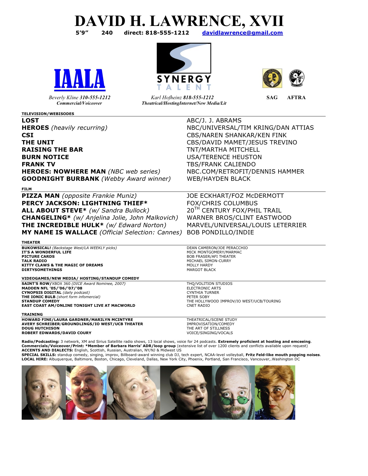 Actors Resume Example Acting Resume Samples