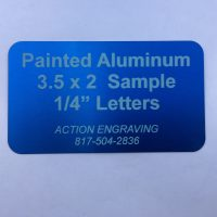 engraved painted aluminum label sign