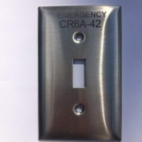 Engraved stainless steel device cover engraved switchplate 1-gang