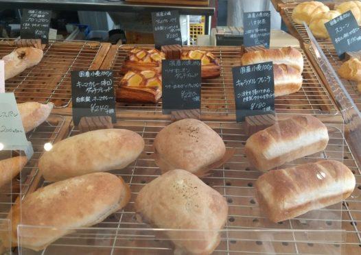 店頭に並ぶパン5種