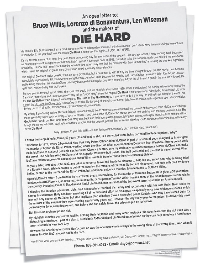 ONE MANS ATTEMPT TO SAVE THE DIE HARD FRANCHISE  Action A Go Go LLC