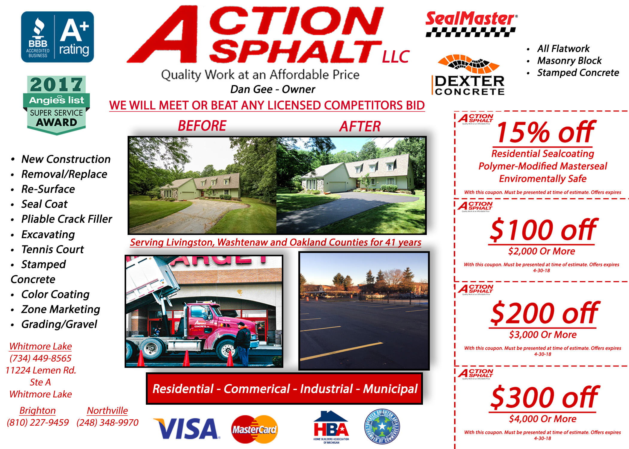action asphalt commercial and