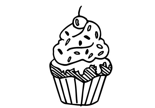 illustration cupcake