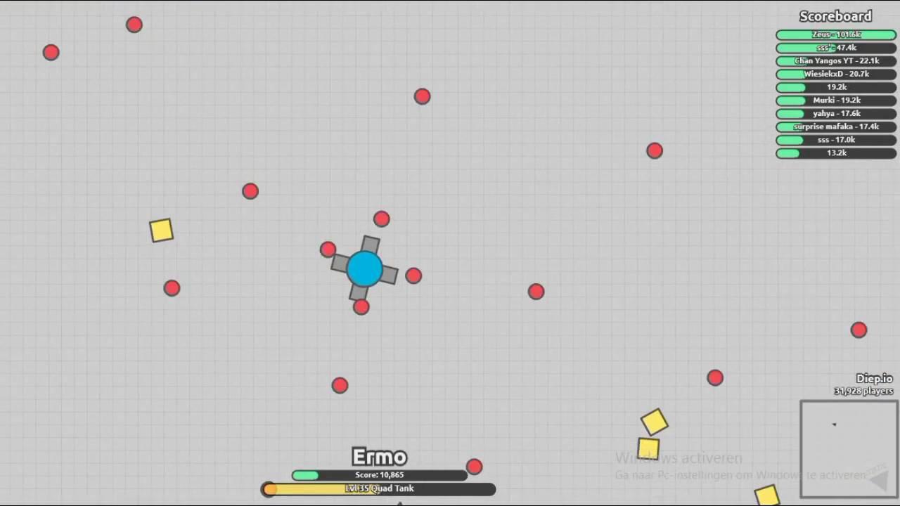 Diep.io!! HOW TO GET HIGH Score!?!? 70k? Wow best Score