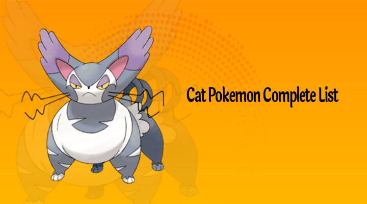 Cat Pokemon Complete List