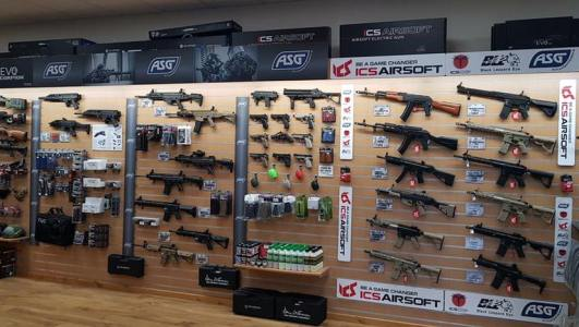 ASG Products on show in JD Airsoft Shop In Shop
