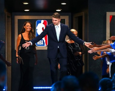 Doncic on 2018 draft night