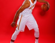 Justin Anderson #1 of the Atlanta Hawks poses for portraits during media day